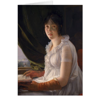 Tarjeta Retrato asentado de Marie-Felipe-Claude
