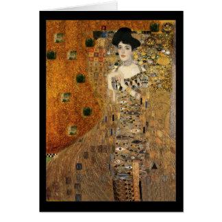 Tarjeta Retrato de Adela Bloch-Bauer de Klimt