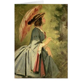 Tarjeta Retrato de Ana, la hija del artista, 1860