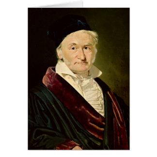 Tarjeta Retrato de Carl Friedrich Gauss, 1840