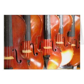 Tarjeta Retrato de cinco violines