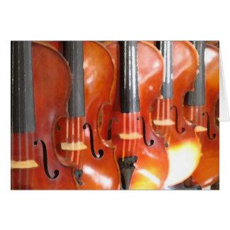 Tarjeta Retrato de cinco violines o violas