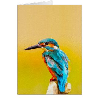 Tarjeta Retrato de la acuarela del pájaro del martín