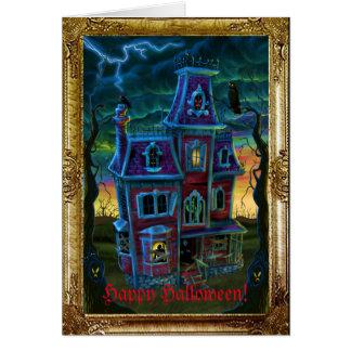 Tarjeta Retrato de la casa encantada