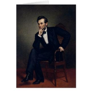 Tarjeta Retrato de presidente Abraham Lincoln
