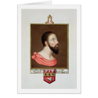 Tarjeta Retrato de sir Thomas Wyatt el más joven (c.1521-5