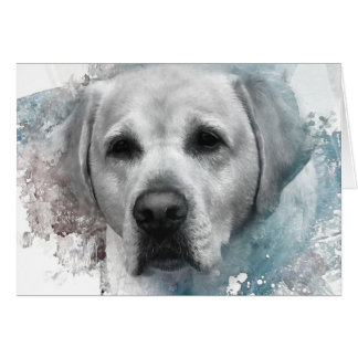 Tarjeta Retrato de un labrador retriever amarillo