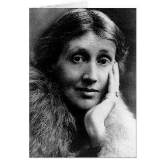 Tarjeta Retrato de Virginia Woolf
