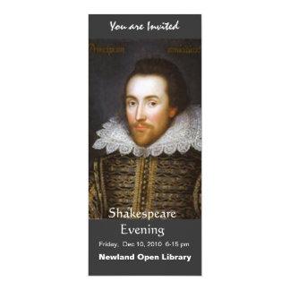 Tarjeta Retrato del curso de la vida de Shakespeare