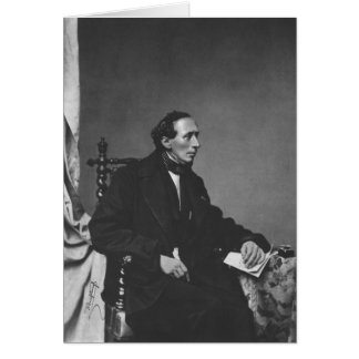 Tarjeta Retrato del escritor Hans Christian Andersen