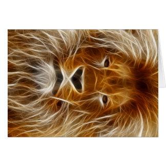 Tarjeta Retrato del león