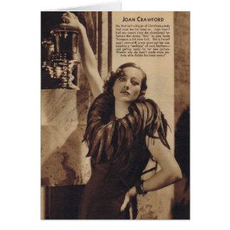 Tarjeta Retrato del vintage de Joan Crawford con las