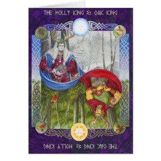 Tarjeta Retrato doble del rey del roble y del rey del