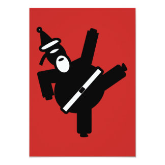Tarjeta Retroceso de Santa con el pie Ninja