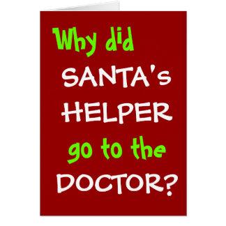 Tarjeta Retruécano divertido del navidad - el doctor Joke