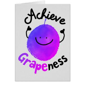 Tarjeta Retruécano positivo de la uva - alcance Grapeness
