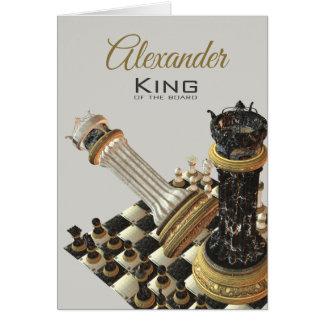 Tarjeta Rey Of The Board del ajedrez