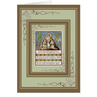 Tarjeta Rezo del católico del vintage