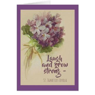 Tarjeta Ría y crezca las flores fuertes de St Ignatius