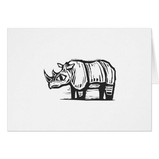Tarjeta Rinoceronte