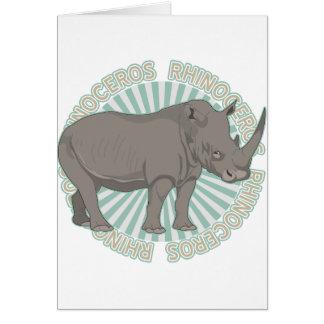 Tarjeta Rinoceronte clásico