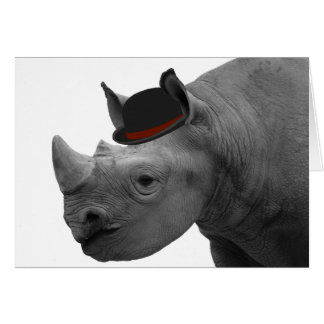 Tarjeta Rinoceronte con el hongo