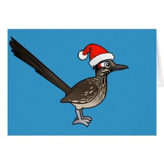 Tarjeta Roadrunner lindo Papá Noel