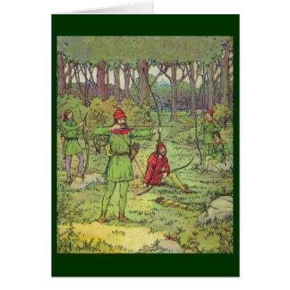 Tarjeta Robin Hood y sus felices hombres