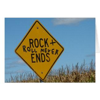Tarjeta Roca + Del rollo extremos nunca, pintada de la
