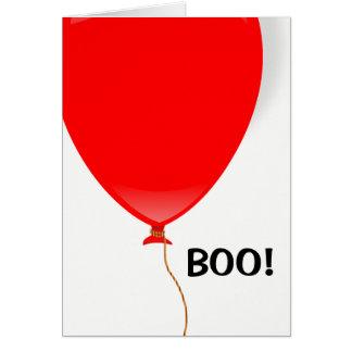 Tarjeta Tarjeta roja de Halloween del globo