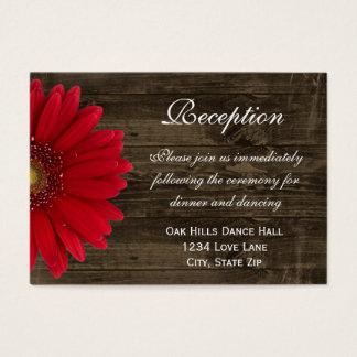 Tarjeta roja de la dirección de la recepción