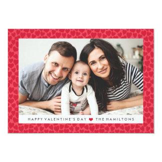 Tarjeta roja de la foto del el día de San Valentín Invitación 12,7 X 17,8 Cm