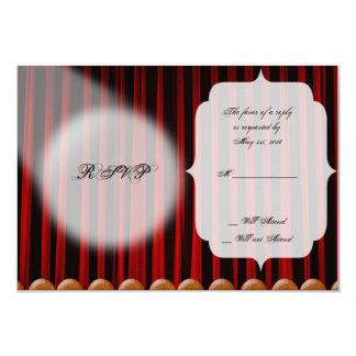 Tarjeta roja de la respuesta del boda de la etapa invitación 8,9 x 12,7 cm