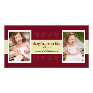 Tarjeta roja de la tarjeta del día de San Valentín Tarjetas Con Fotos Personalizadas