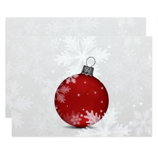 tarjeta roja de plata festiva de los días de invitación 12,7 x 17,8 cm