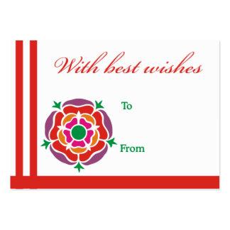Tarjeta roja de recuerdos de la flor tarjetas de visita grandes