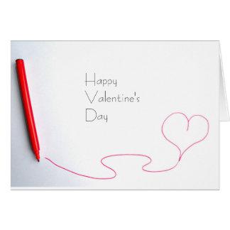 Tarjeta roja del el día de San Valentín del
