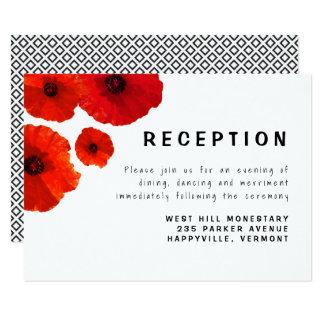 Tarjeta roja del recinto de la recepción de las invitación 8,9 x 12,7 cm