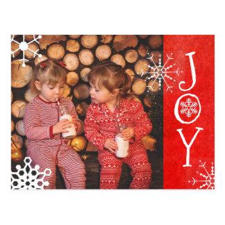 Tarjeta roja personalizada de la alegría del