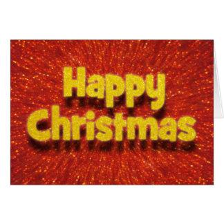Tarjeta rojo de las felices Navidad del efecto 3D/tarjeta