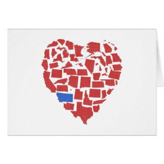 Tarjeta Rojo de Montana del mosaico del corazón de los