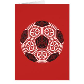 Tarjeta rojo sagrado de la geometría del fútbol