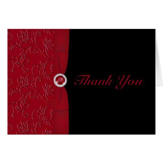 Tarjeta Rojos y negros de rubíes le agradecen cardar