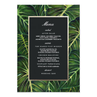 Tarjeta Romance/menú tropicales