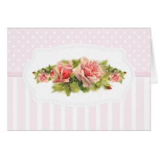 Tarjeta Romance rosado
