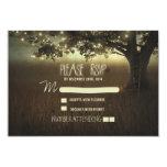 tarjeta romántica de RSVP de las linternas de la Anuncio Personalizado