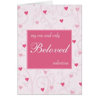 Tarjeta romántica del el día de San Valentín de