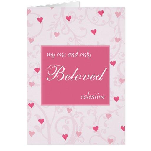 Tarjeta romántica del el día de San Valentín de lo