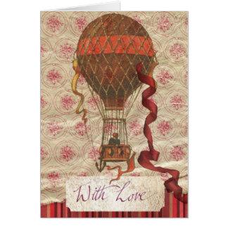 Tarjeta romántica del globo del el día de San