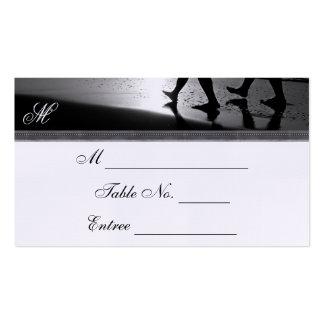 Tarjeta romántica del lugar de la bodas de plata tarjetas de visita